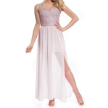 Różowa maxi sukienka z...