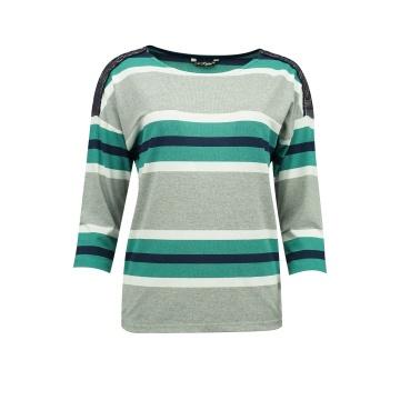 Granatowo-zielona bluzka...