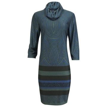 Granatowo-szara sukienka z...