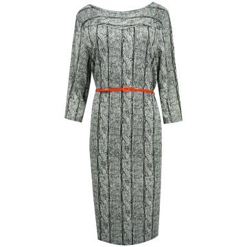 Grafitowa sukienka z wzorem...