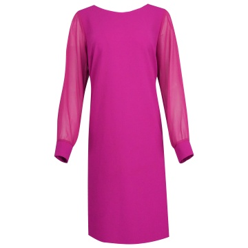 Rożowa sukienka z tiulowymi...