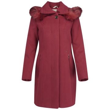Wiśniowy zimowy płaszcz...