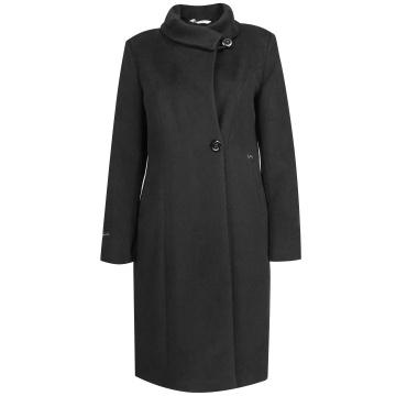 Czarny zimowy płaszcz...
