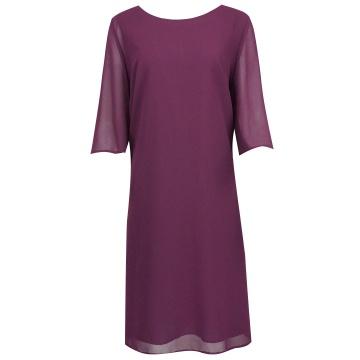 Bordowa sukienka z...