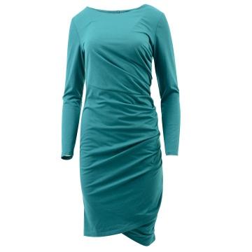 Zielona sukienka z dzianiny...