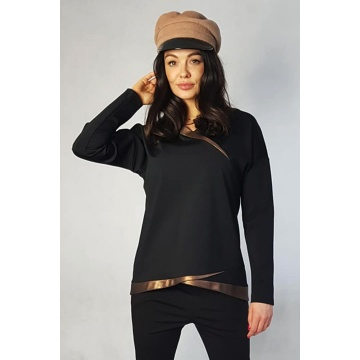 Czarna bluzka damska ze...