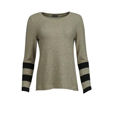 Beżowy sweterek damski z...