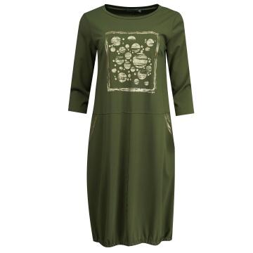 Zielona sukienka w złote...
