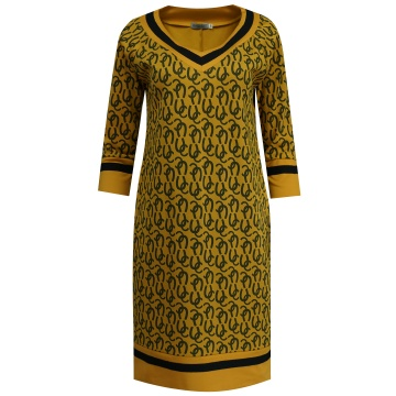 Miodowa sukienka z...