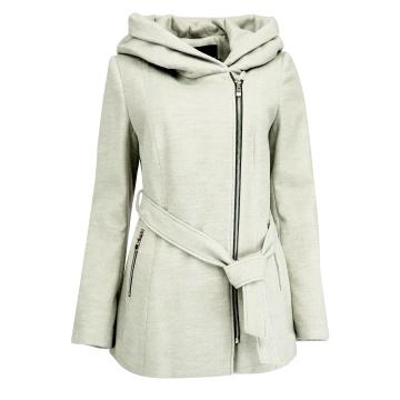 Popielaty zimowy płaszcz...