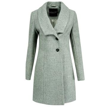 Szary zimowy płaszcz...