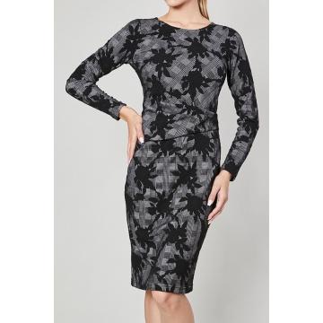 Sukienka w czarno-grafitowe...