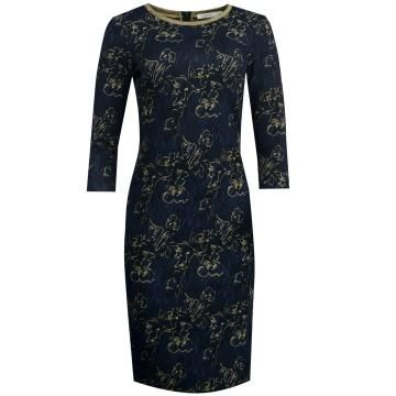 Sukienka granatowo-złota...