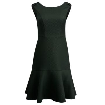 Sukienka czarna falbaną G8SK45