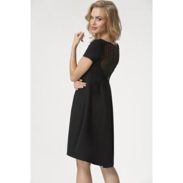 Sukienka czarna z koronką Nesa
