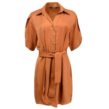 Sukienka szmizjerka ruda