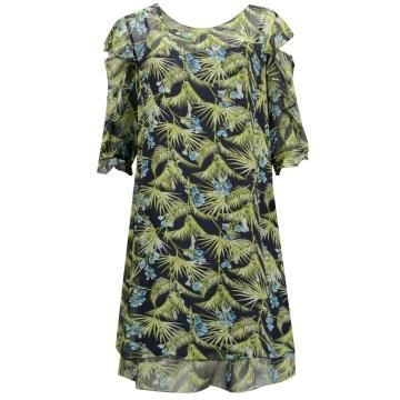 Zwiewna sukienka w zielone...