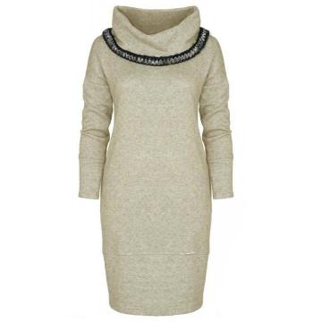 Sukienka dzianinowa beżowa...