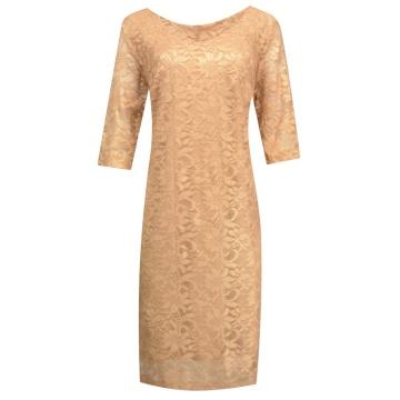 Sukienka wizytowa - złota...
