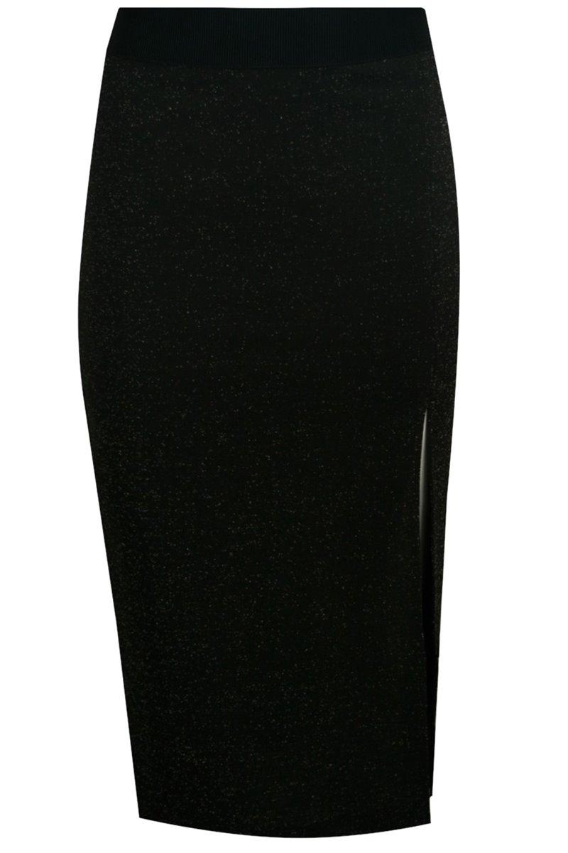 Spódnica czarno-złota T7SP01