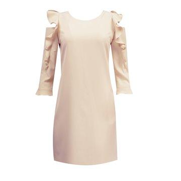 Sukienka model JUDYTA pudrowy róż
