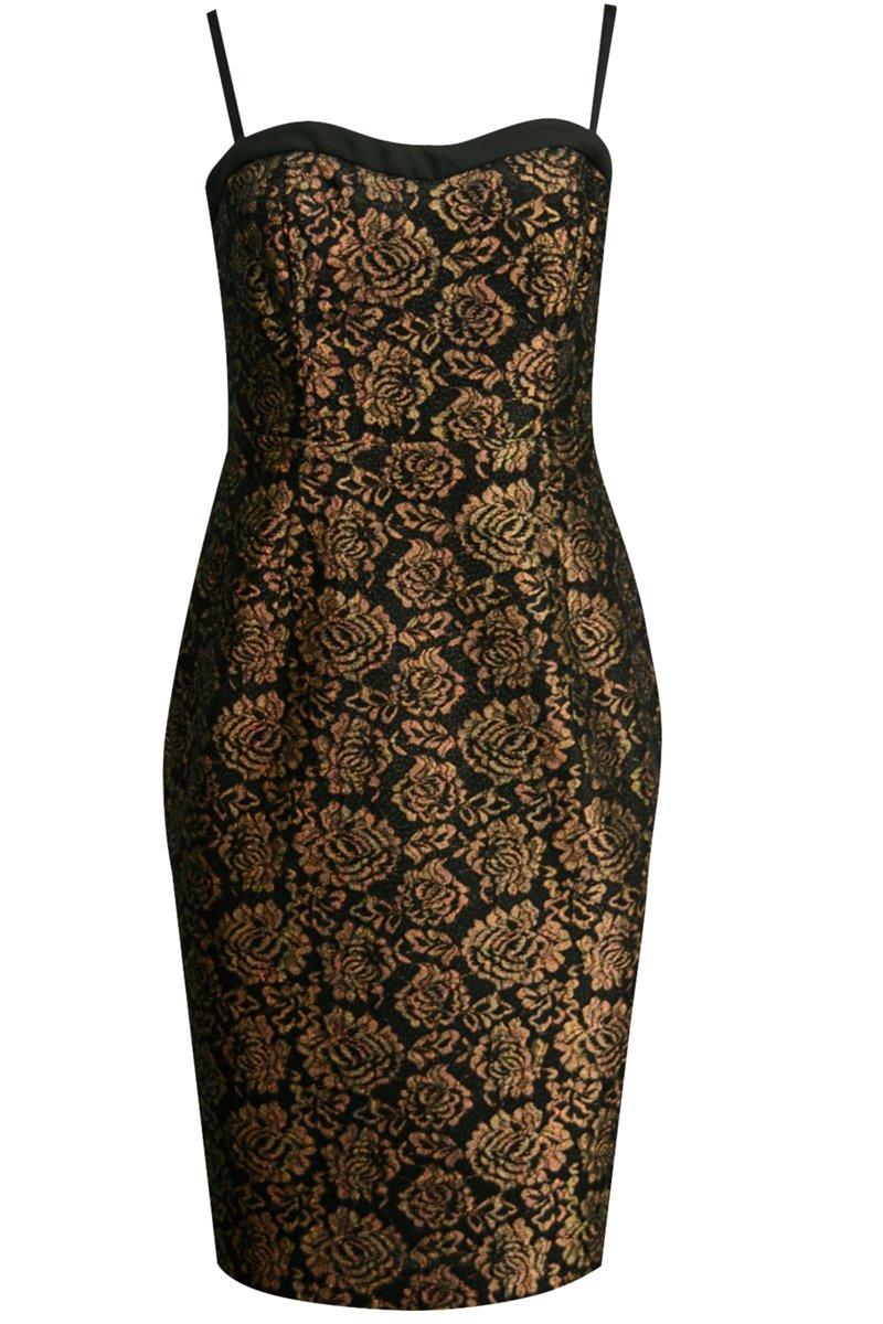 Sukienka czarna koronką T8SK02