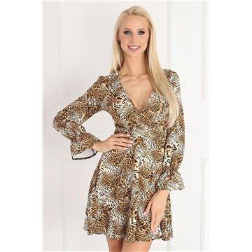 Sukienka model D11/01 brązowe wzory