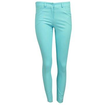 Spodnie damskie model Sajany turkusowe