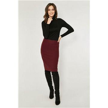 Spódnica model Darys bordowa