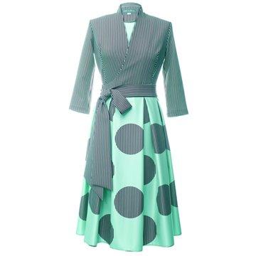 Sukienka Marika niebiesko-zielona