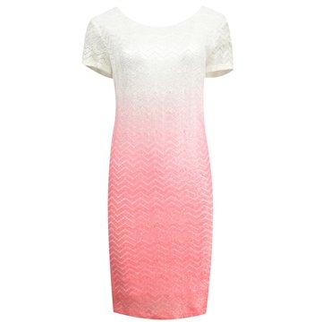 Sukienka model Orinda różowo-biała