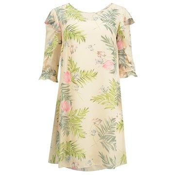 Sukienka model Flores brzoskwiniowa