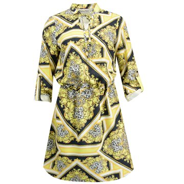Sukienka model Olla żólte wzory