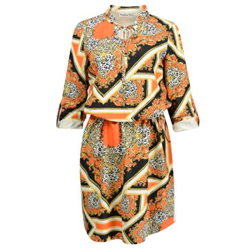 Sukienka model Olla pomarańczowe wzor