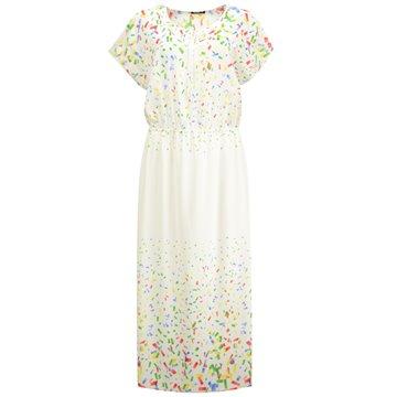 Sukienka maxi kolorowe wzorki
