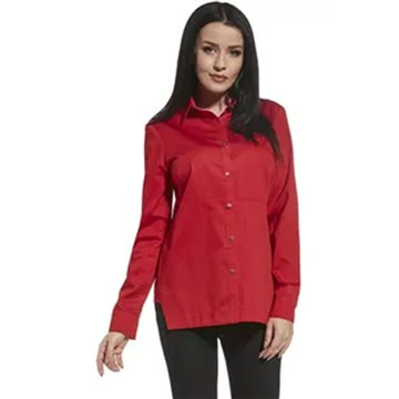 Bluzka damska 250190 czerwona koszulowa