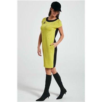 Sukienka 250034 zielono-czarna