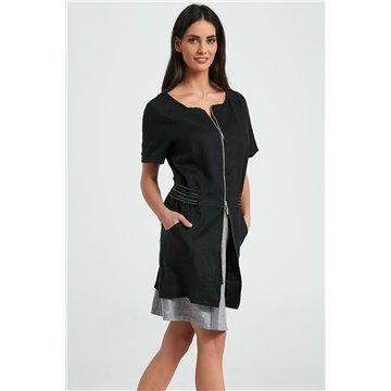 Sukienka 250055 czarna len