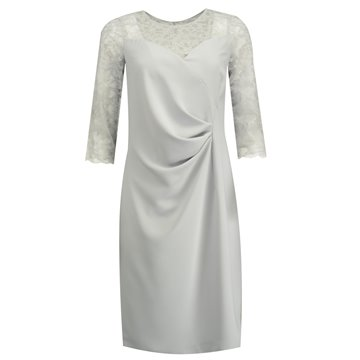 Sukienka wizytowa Melisa popielata