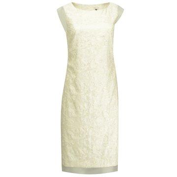 Sukienka wizytowa beżowo-złota