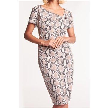 Sukienka SKK-933/84 wężowy wzór