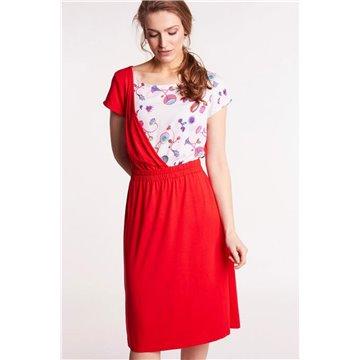 Sukienka FAB-89-SB czerwona
