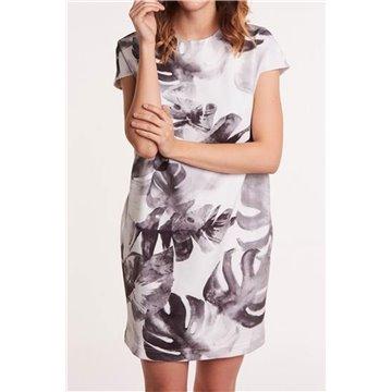 Sukienka FAB-1365 grafitowe wzory