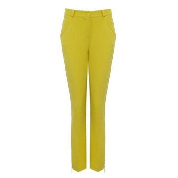 Spodnie damskie model Topsy cytryna