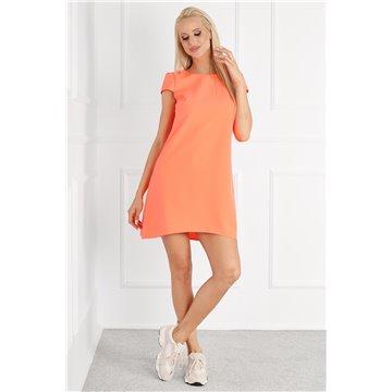 Sukienka E10/112 pomarańczowa neon