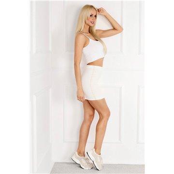 Spódnica E13/08 biała mini