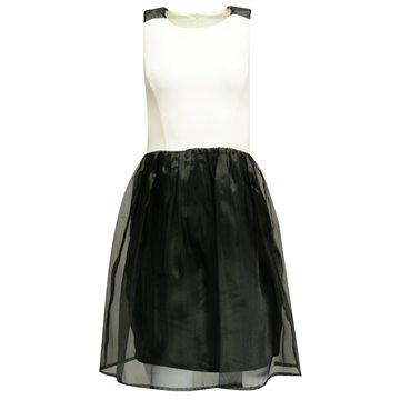 Sukienka model Jena biało-czarna