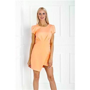 Sukienka E16/131 pomarańczowa neon