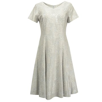 Sukienka wizytowa model Justyna srebrna