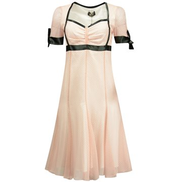Sukienka w groszki różowa